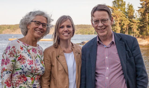 Our current management (from left to right): Maria Lindgren, Gabriella Fanger (Managing Director) och Mark Elert (Deputy Managing Director).